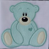 Cute Applique Teddies