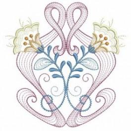 Art Nouveau Flowers 3