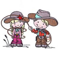 Cowboy and Cowgirl Clip Art