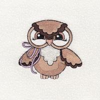 Fall Owls Embroidery Design Freebie