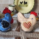 Hen and Rooster Egg Cozies