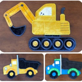 Kreative Kiwi | Secrets Of Embroidery|Large Digger and Truck