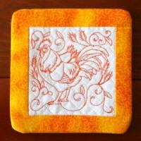 Kreative Kiwi | Secrets Of Embroidery|Poppy Coasters