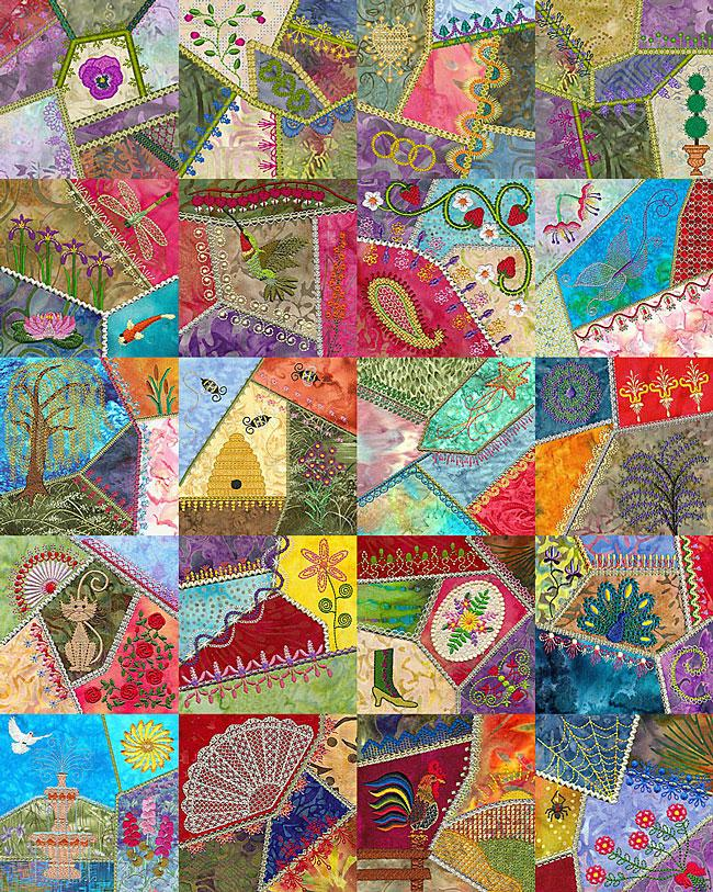 Crazy Quilt Pattern Images : Crazy Quilts Super Sale Embroider Designs