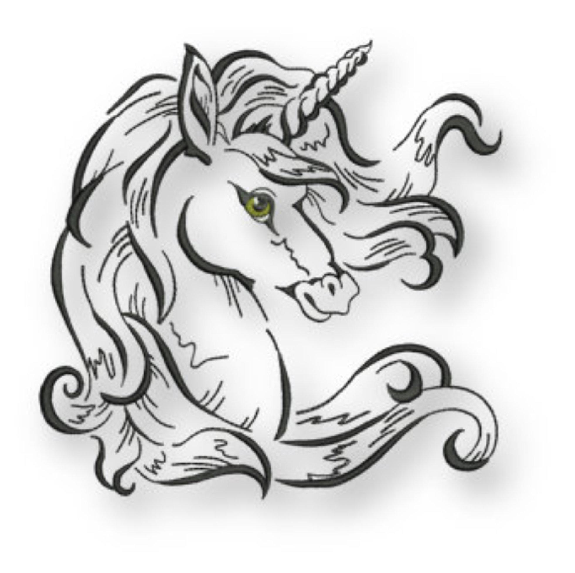 Line Art Unicorn