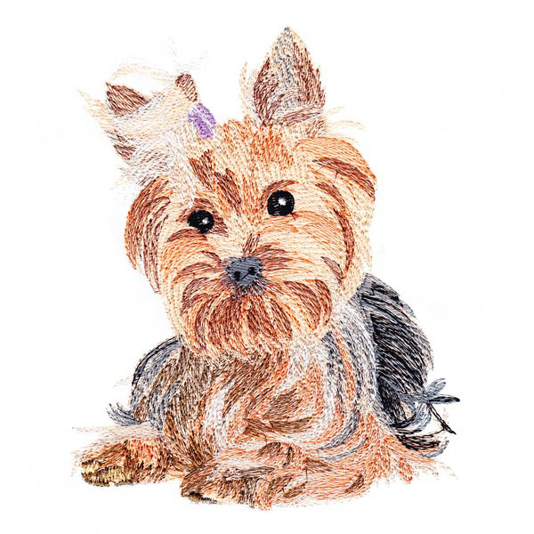 Stitch Emporium Secrets Of Embroidery Realistic Yorkie 1