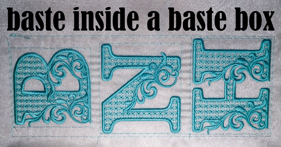 Basting Embroidery