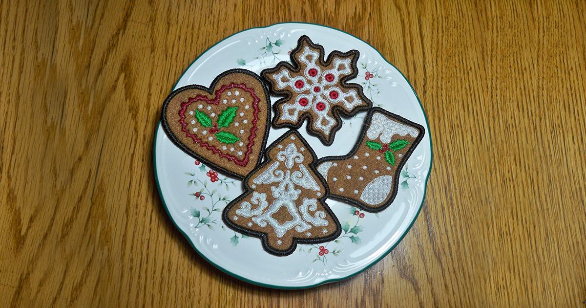 Christmas Cookies Embroidery Project