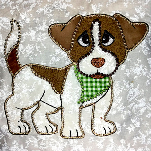 APPLIQUE JACK RUSSELL