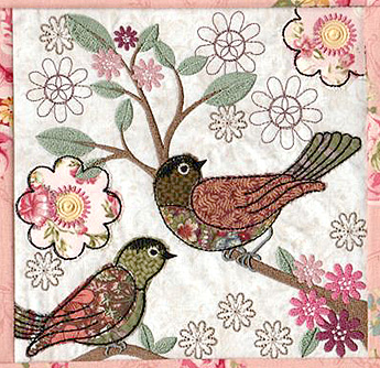 shabby chic bird blocks