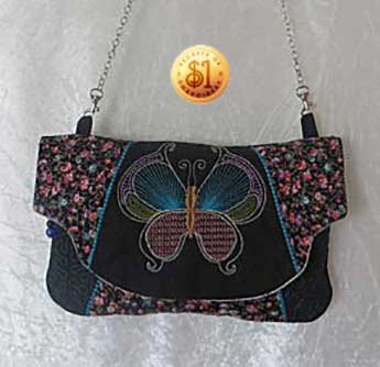 ITH Butterfly Clutch Purse