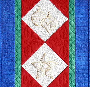 elegant quilted table runner