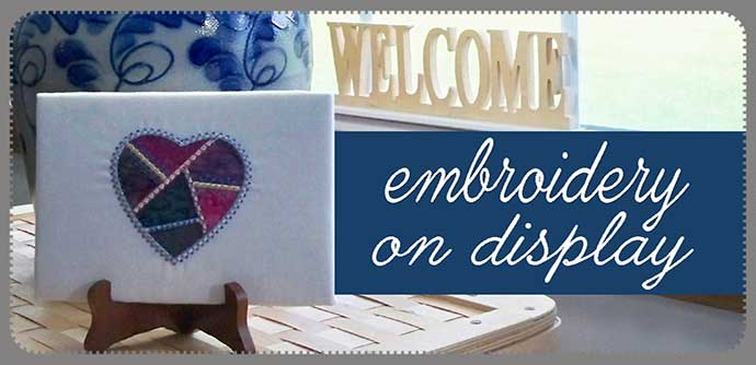 easy inexpensive display ideas for embroidery