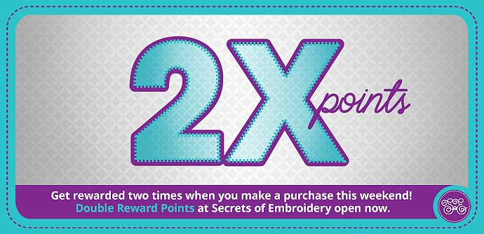 Double Points on Embroidery Designs