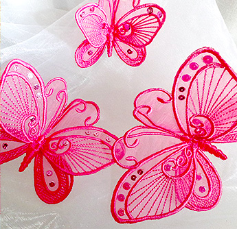 3d organza lace butterfly 5