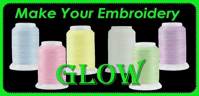Use Glow in the Dark Thread