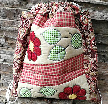 two panel boho back pack