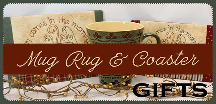 mug rugs embroidery