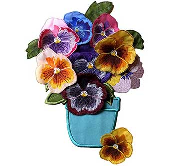 Pansies Embroidery