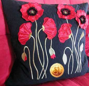 3D Organza and Fringed Poppies