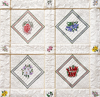 Aussie Floral Quilt Blocks