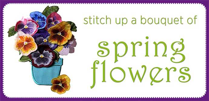 Spring Flowers Embroidery Designs