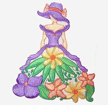 Spring Sunbonnet Embroidery