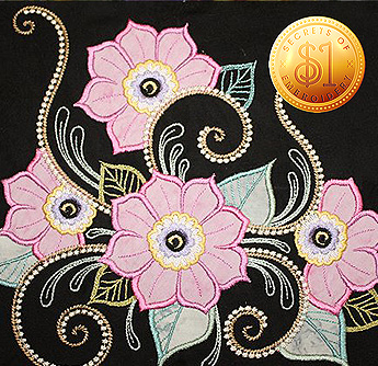 applique decorative flowers