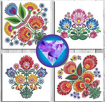 kalocsai floral folk 1 set