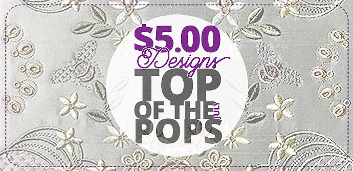 Most Popular Embroidery Designs from last months Pop-up Stores