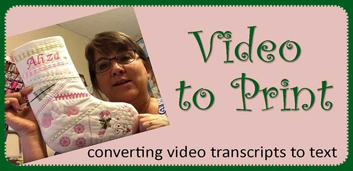 Converting Video Transcripts to Text