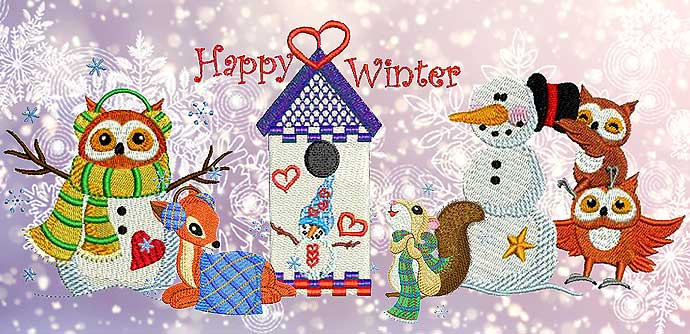 Winter Embroidery Designs and Projects